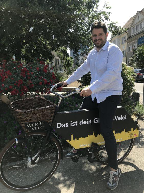 Lukas Weibel, ihr Ansprechpartner für die werbeVelos in Basel und der schweiz